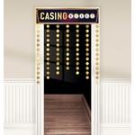 Doorway Curtain-Roll Up The Dice-Casino Night