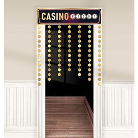 Doorway Curtain-Roll Up The Dice-Casino Night