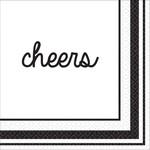 Beverage Napkins-Eat & Enjoy-Cheers-16pk-2ply