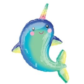 Foil Balloon-Supershape-Giant Happy Narwhal-29In