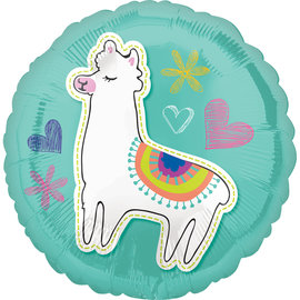 Foil Balloon-Selfie Celebration Llama /18In