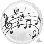 """Foil Balloon- Music Fun/18"""""""