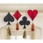 Honeycomb Decorations- Casino Night- 4pcs-12in