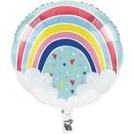 """Foil Balloon-Over The Rainbow-18"""""""