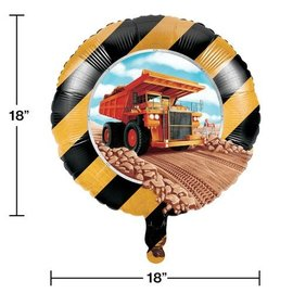 """Foil Balloon-Big Dig Construction-18"""""""
