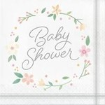 Luncheon Napkins-Farhouse Floral Baby Shower-16pk-2ply