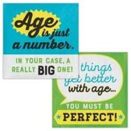 Beverage Napkins-Age Humor-Just a Number-16pk-2ply