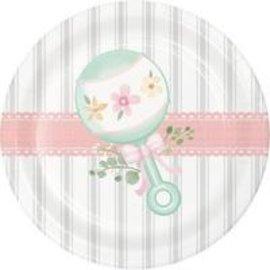 "Plates - BV - Farmhouse Floral Baby - 7"" - 8pk"