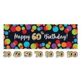 Banner - Ballon Birthday/Giant/1 Count
