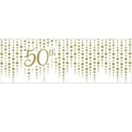 Banner - Gold Sparkle and Shine/ 50th/20In x 60In/ 1 Count