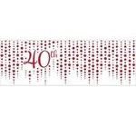 Banner - Ruby Sparkle and Shine / 20In x 60In / 1 Count