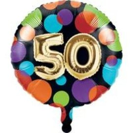 Foil Balloon-50th Balloon Birthday-18""