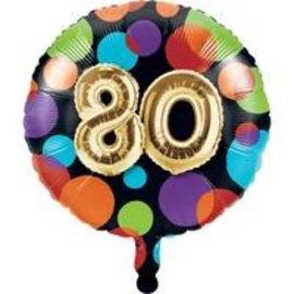 """Foil Balloon-80th Balloon Birthday-18"""""""