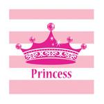 Beverage Napkins-Pink Princess Royalty-16pk-2ply