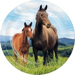 """Beverage Paper Plates-Horse and Pony-8pk-7"""""""