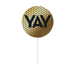 Cake Topper-Yay-Sequins-1  Count