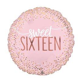 """Foil Balloon-Sweet Sixteen-18"""""""