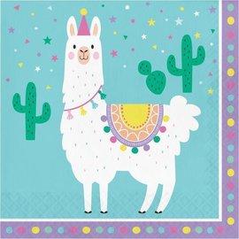 Luncheon Napkins-Llama Party-16pk-2ply