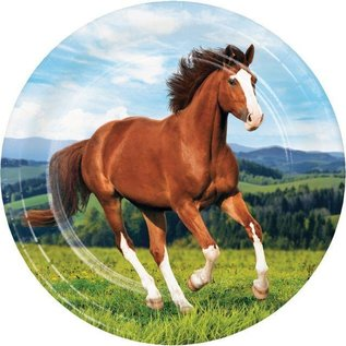 """Luncheon Paper Plates-Horse and Pony-8pk-9"""""""