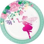 """Beverage Paper Plates-Floral Fairy Sparkle-8pk-7"""""""