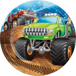 "Beverage Paper Plates-Monster Truck Rally-8pk-7"""