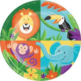 Beverage Paper Plates-Jungle Safari-8pk-7""