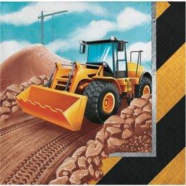 Beverage Napkins-Big Dig Construction-16pk-2ply