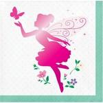 Beverage Napkins-Florall Fairy Sparkle-16pk-3ply