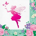 Luncheon Napkins-Floral Fairy Sparkle-16pk-3ply