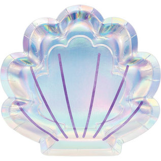 """Luncheon Paper Plates-Shell Shaped-8pk-9"""""""