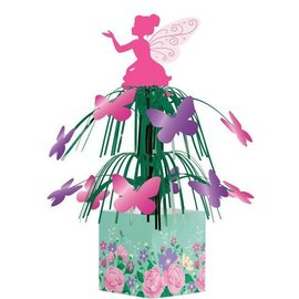Cascade Centerpiece-Floral Fairy Sparkle-14.5in