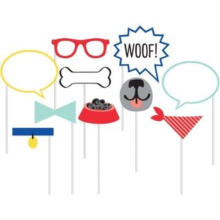 Photo Booth Props-Dog Party-10pk