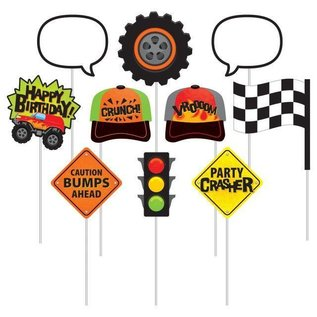 Photo Booth Props-Monster Truck Rally-10pk