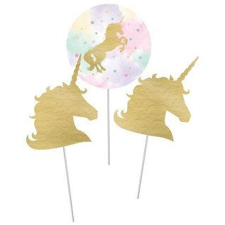 Centerpiece Sticks-Magical Unicorn-3pk