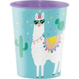 Cups-Plastic-Llama Party-16oz