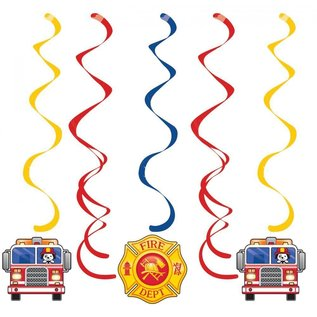 Dizzy Danglers-Flaming Fire Truck-5pk