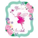 Invitations-Floral Fairy Sparkle-8pk