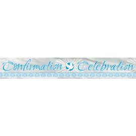 Banner-Radiant Cross Blue-Confirmation-6ft