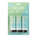 Confetti Party Poppers-Shimmering Party-3pack