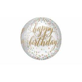 Foil Balloon- Happy Birthday- Orbz