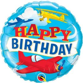 Foil Balloon- Happy Birthday/Planes- 18""
