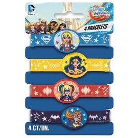 Bracelets  -Super Hero Girls/4 Pack