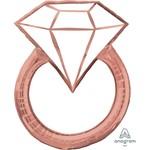 "Foil Balloon-Supershape-Diamond Ring- Rose Gold-30"""