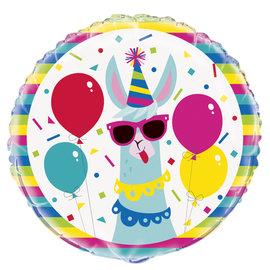 "Foil Balloon 18""-Llama party"