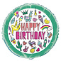 "Foil Balloon-Happy Birthday-18"""