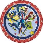 "Beverage Paper Plates-Super Hero Girls-8pk-7"""