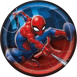 "Beverage Paper Plates-Spiderman-8pk-7"""