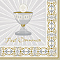 """Luncheon Napkins-Gold & Silver Radiant Cross """"Communion""""-16pk-2ply"""