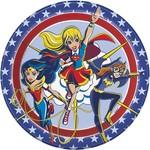 "Luncheon Paper Plates-Super Hero Girls-8pk-9"""
