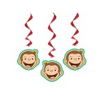 Hanging Decorations-Curious George-3pk